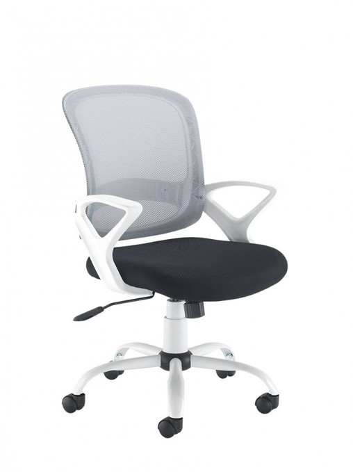 Tyler White and Black Mesh Chair TYL