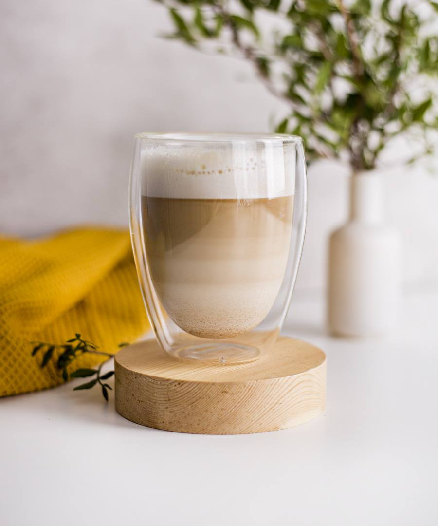 Coffee Mate latte glasses