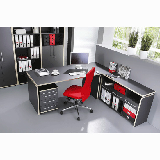 Duo Anthracite Workstation Setting 2