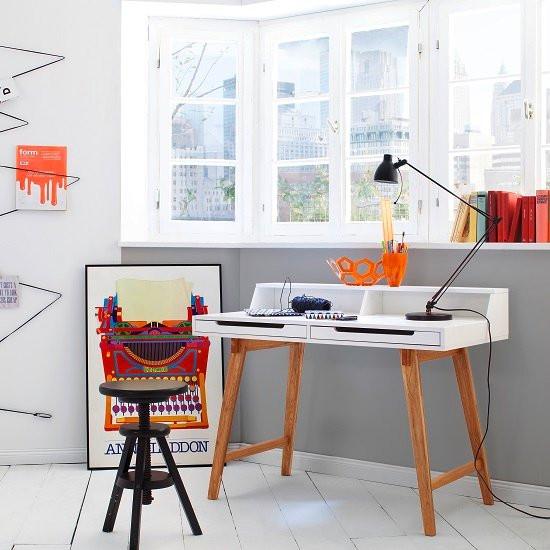 Coupar Laptop Desk In Matt White