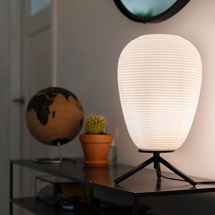 Design table lamp black glass