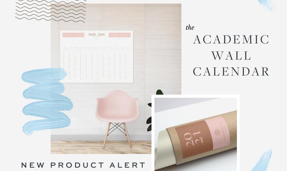 Ponderlily® Academic Wall Calendar 2020-