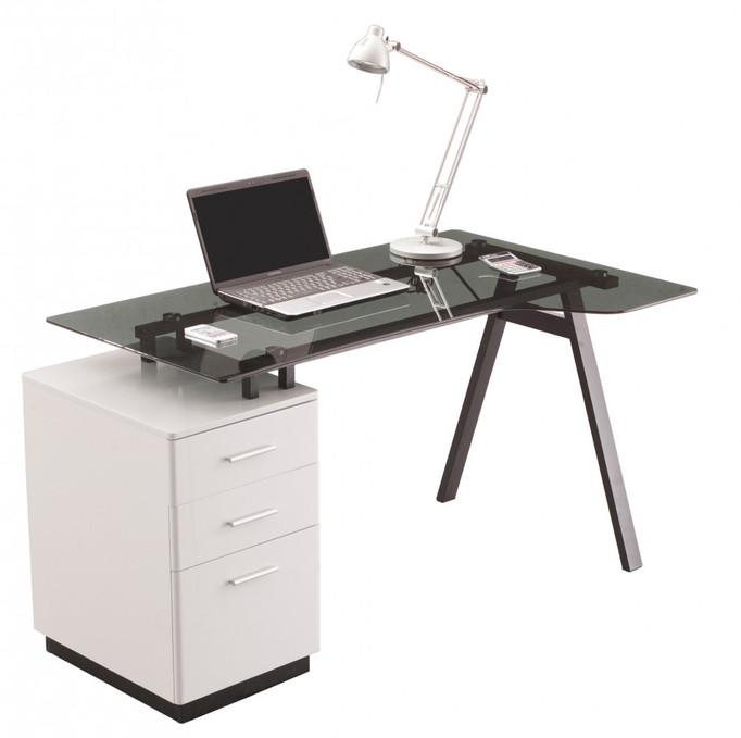 Alphason Cleveland 4 Glass Computer Desk