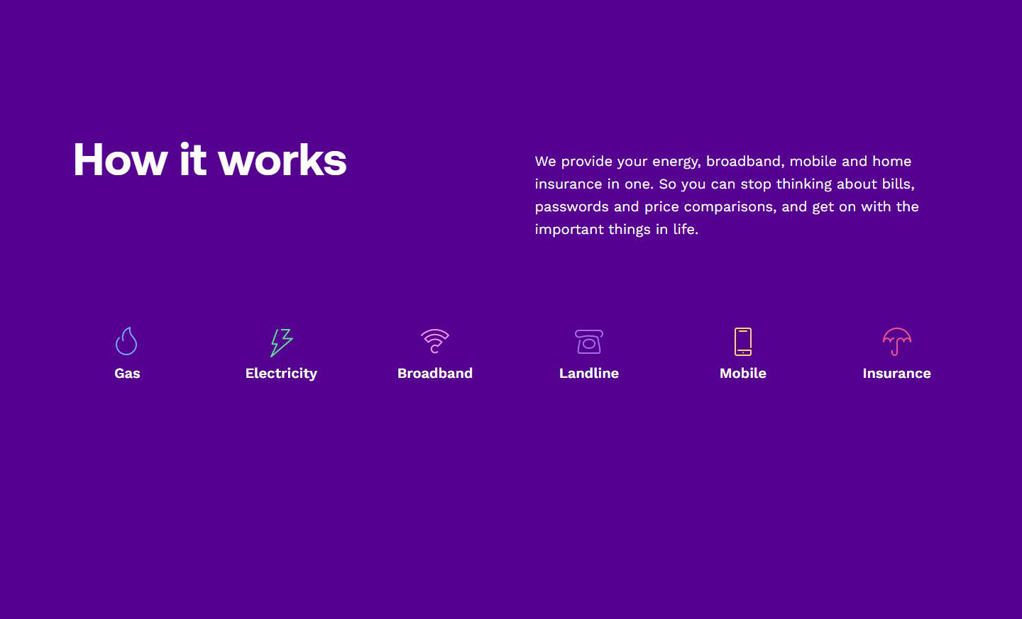 Utility Warehouse - How it Works