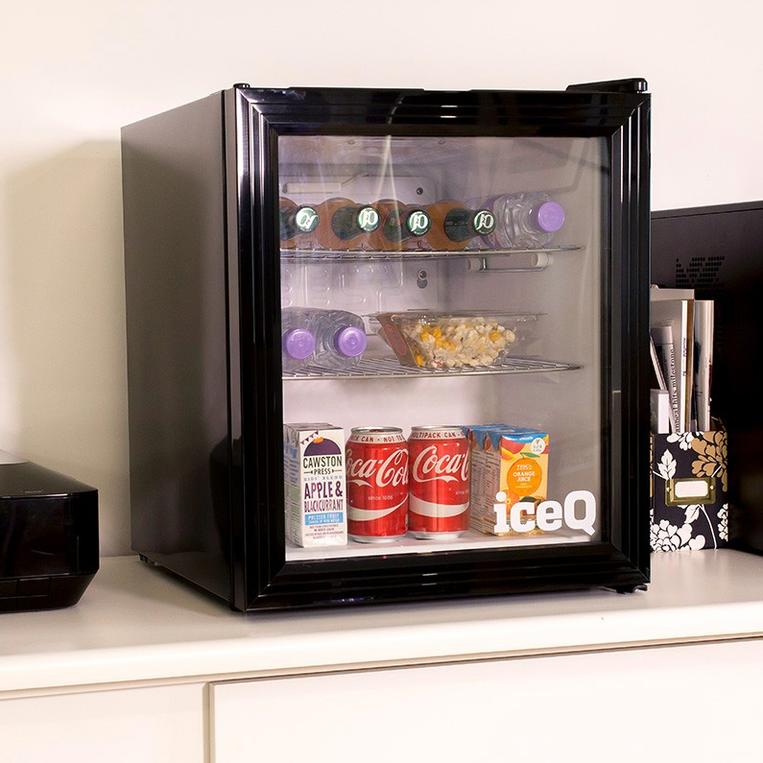 iceQ 49 Litre Drinks Glass Door Fridge -