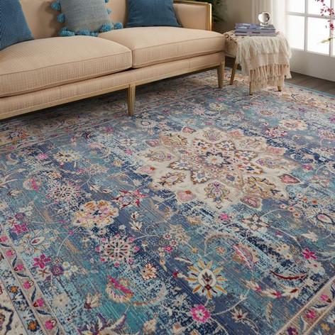 Vintage Kashan VKA01 Blue Rug