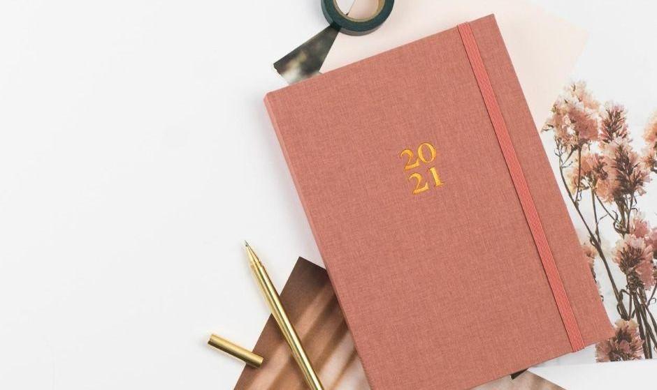 Ponderlily® Weekly Planner 2021, Rose (Sunday-start)