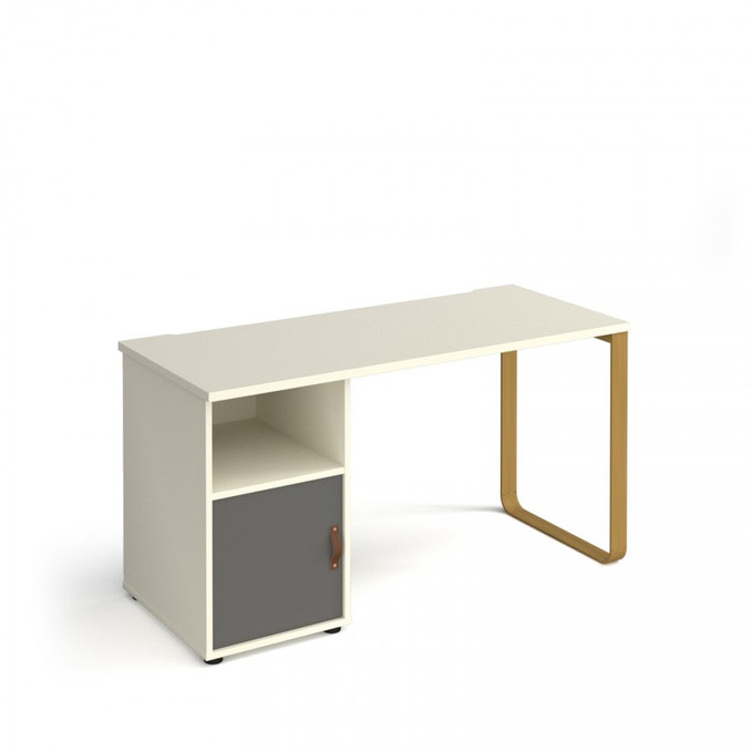 Dams Cairo Straight Desk with Cupboard
