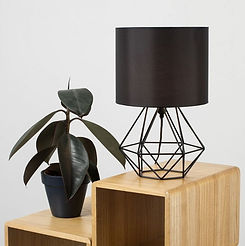 ANGUS BLACK GEOMETRIC TABLE LAMP WITH BL
