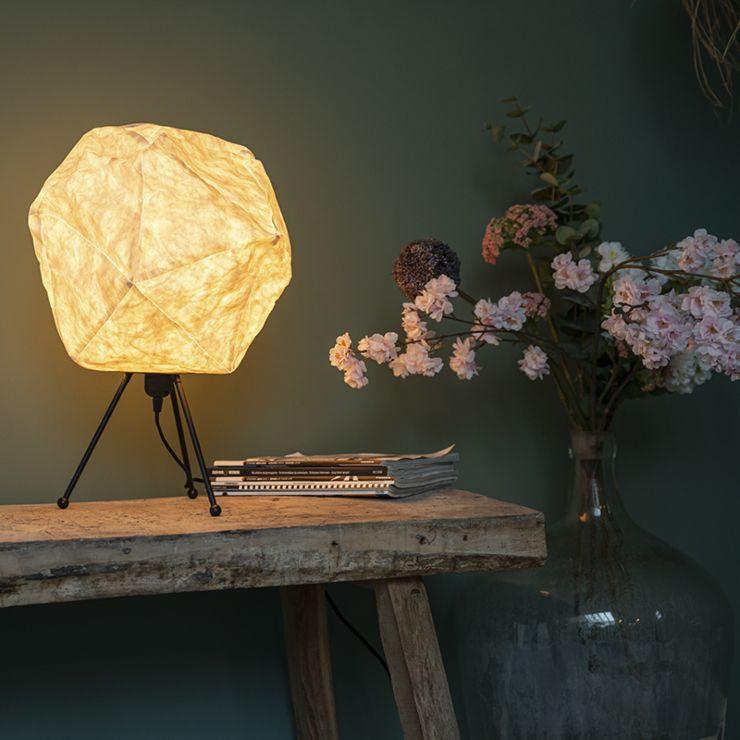 Scandinavian paper table lamp white