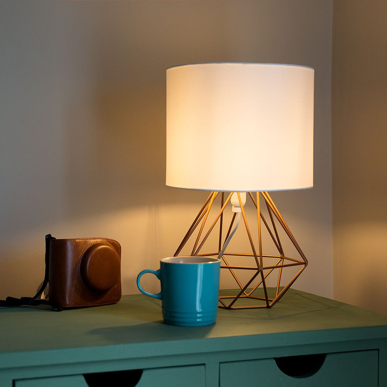 ANGUS COPPER GEOMETRIC TABLE LAMP
