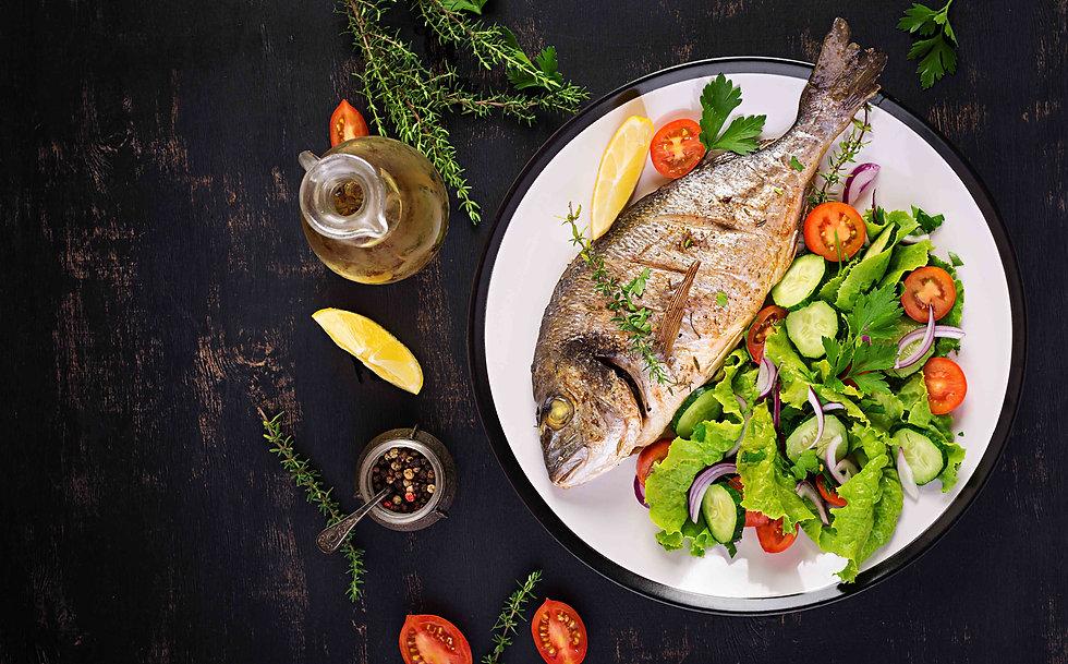 baked-fish-dorado-with-lemon-fresh-salad