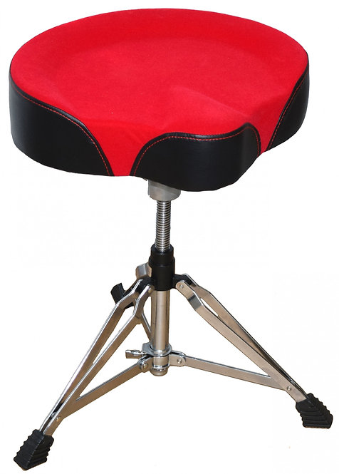 Drum Throne with Oversized Motorcycle Suede Seat