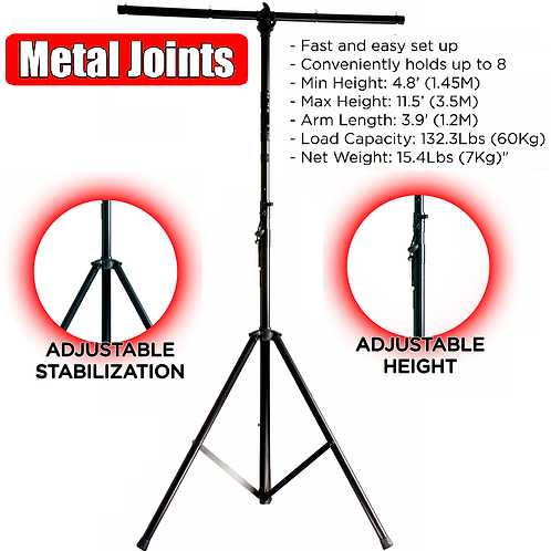 Heavey Duty Light Stand All Metal Parts
