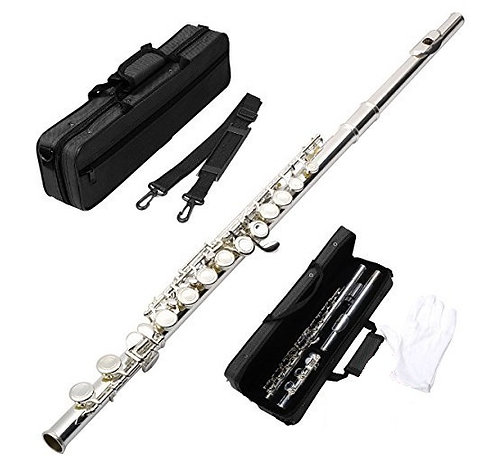 Hawk WD-F111 Closed Holed Student Flute with Case, Nickel-Silver