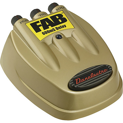 Danelectro D-8 FAB 600ms Delay Guitar Effects Pedal