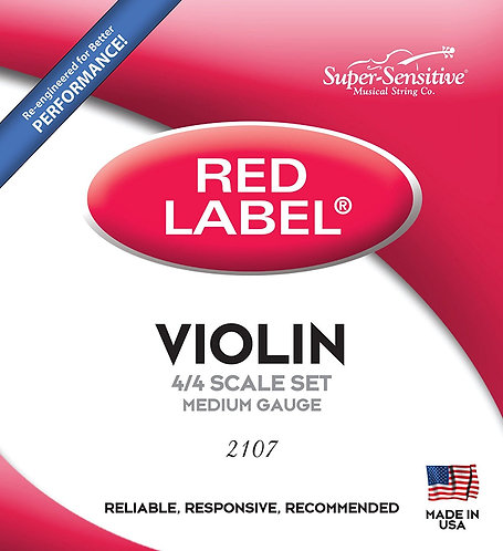 Super Sensitive Red Label Violin String Set - 4/4