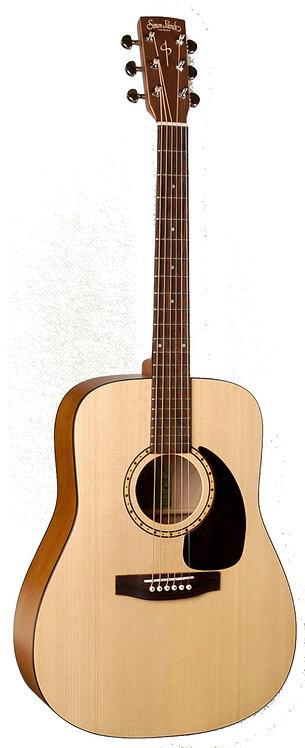 Simon & Patrick Woodland Concert Dreadnought Acoustic Electric Guitar with QIT