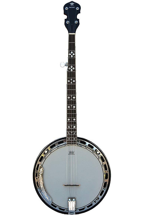 Danville Deluxe 5 String Rolled Brass Tone Ring Banjo