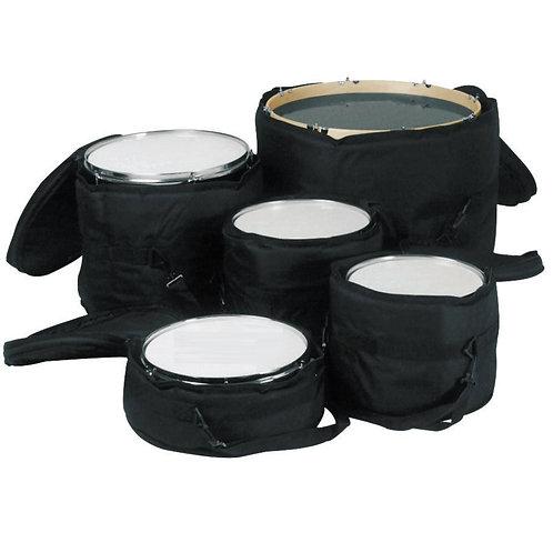 Standard Padded Nylon Drum Bag, 5 pack Set