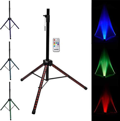 Gemini LED Lighted Professional Speaker Stand