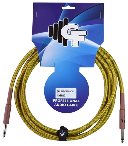 Tweed Instrument Cable - 1/4 Male Straight to 1/4 Male Straight