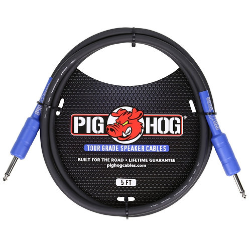 5ft. Tour Grade Speaker Cable by Pighog (Lifetime Warranty)