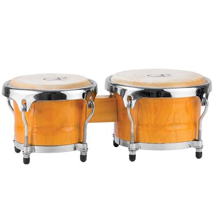 Granite Percussion 6.5 & 7.5 inch Bongo Set - Natural Finish