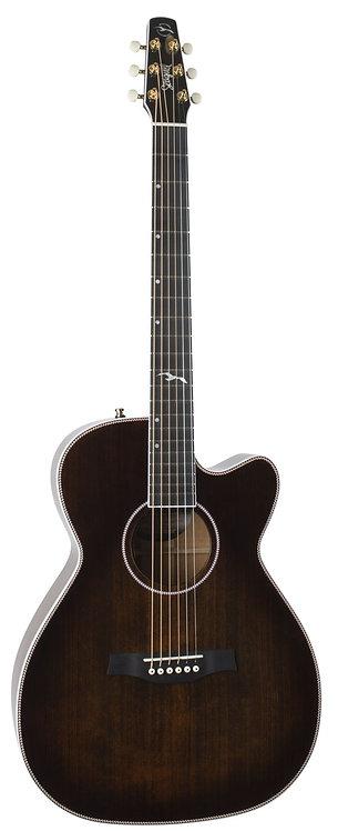 Seagull Artist Mosaic CH CW GT EQ Acoustic Electric Guitar w/Case Bourbon Burst