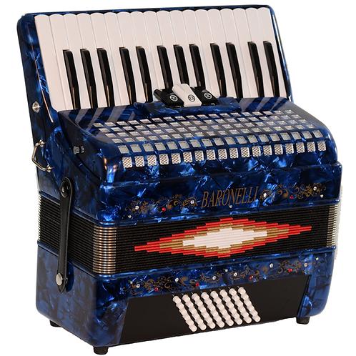 Baronelli DLX Piano Accordion 30 Keys 48 Bass 3 Switches