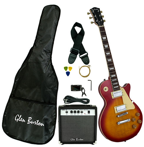 Glen Burton Les Paul Style Custom Guitar Deluxe Package