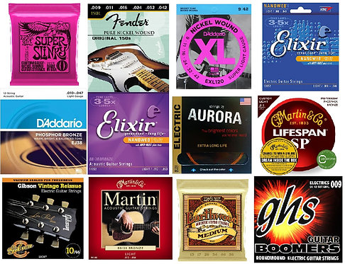 Lowest Prices on Brand Name Guitar Strings as low as