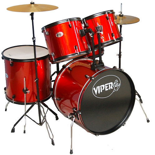 Viper Full-Size Drum Set with Cymbals & Throne