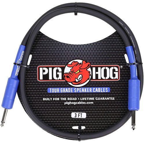 3ft. Tour Grade Speaker Cable by Pighog (Lifetime Warranty)