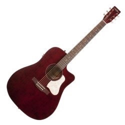Art & Lutherie Americana  Dreadnought Red CW QIT Acoustic Electric 6 String