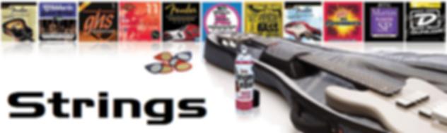 Strings, Electric Guitar Strings, Acoustic Guitar Stings, Banjo Strings, Uke Strings, Ukulele Strings, Bass Strings, D'Addario, Elixir, GHS, Fender, Ernie Ball, Boomers, Martin, Auroa, Gibson