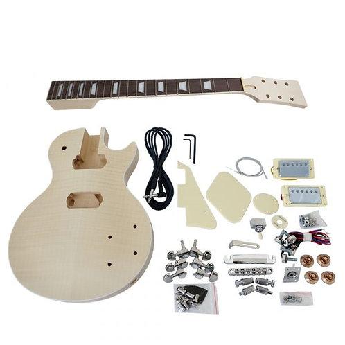 Custom Flame Maple LP StyleElectric Guitar DIY Kit
