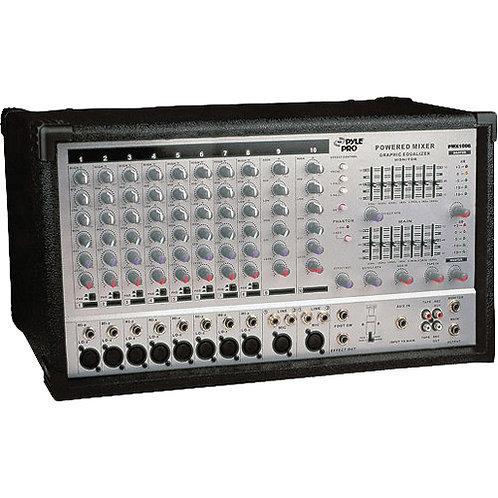 Pyle Pro PMX1006 10 Channel 800 watt Powered Mixer