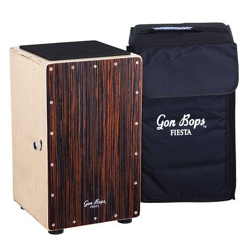 Gon Bops Fiesta Cajon - Walnut Includes Carry Case