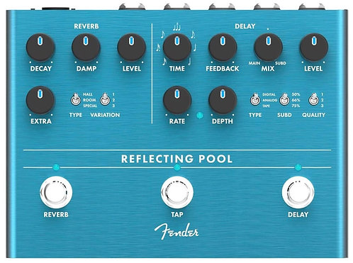 Fender Reflecting Pool Delay & Reverb Electric Guitar Pedal