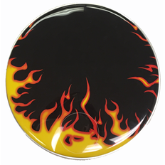 "Hell's Flames Custom Graphic Flames 22"" Bass Drum Head"
