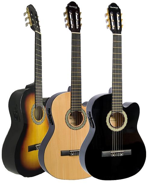 Huntington 39CE Cutaway Acoustic Electric Classical Guitar
