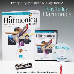 Play Harmonica Today Complete Kit with Book/CD/DVD/Hohner Bluesband Harmonica