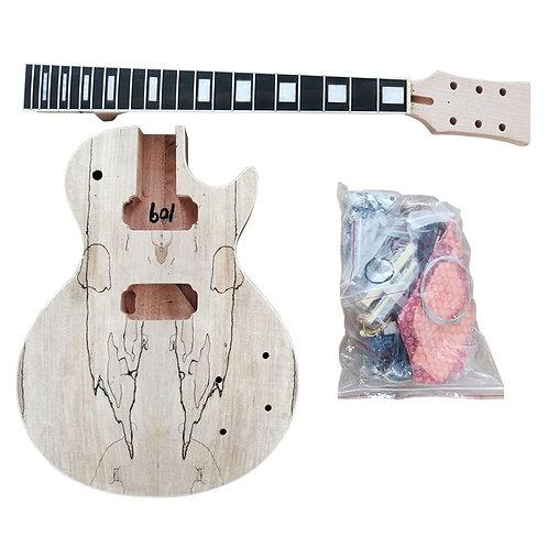 Custom Spalted Maple LP StyleElectric Guitar DIY Kit