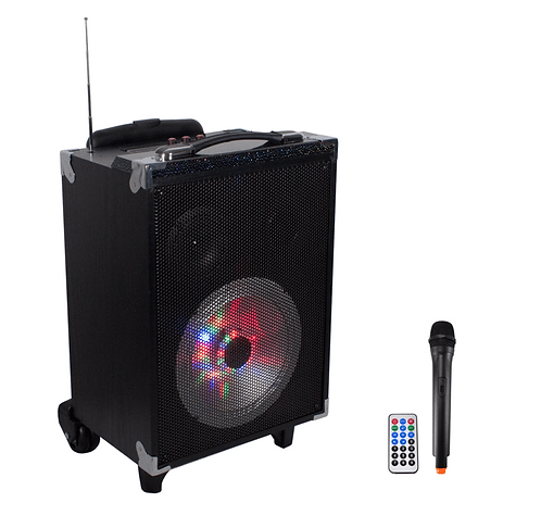 Technical Pro WASP680 Rechargable Bluetooth Speaker with Wireless Microphone