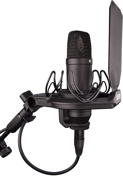 Rode NT1 Kit Condenser Microphone with Shock Mount and Upgraded Pop Filter