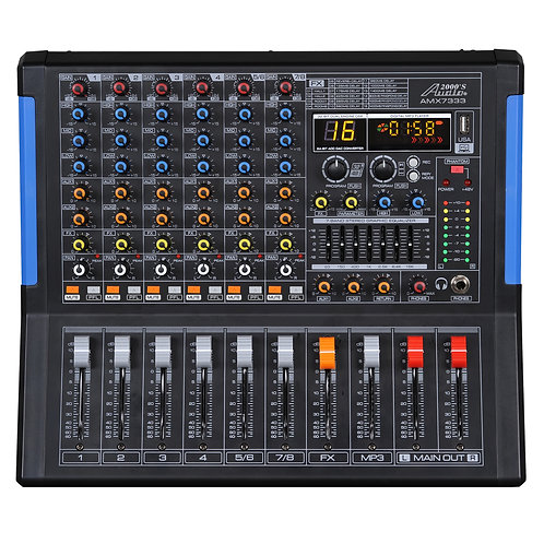 AUDIO 2000 - 7333 Eight-Channel Recording Mixer with USB Interface, Bluetoooth +