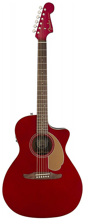 Fender Newporter Player - California Series Acoustic Guitar - Candy Apple Red