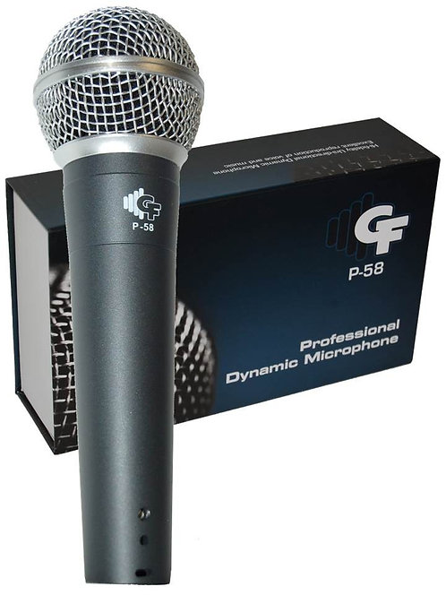 Cardioid Dynamic Microphone - With Cable - P58