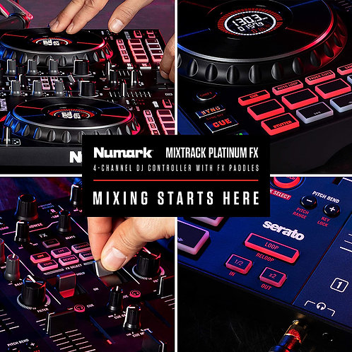 Numark MIXTRACK Platinum FX 4-channel Serato DJ Lite Controller